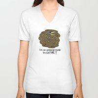 velvet underground V-neck T-shirts featuring Underground by Sid's Shop