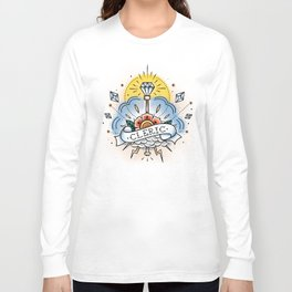 Cleric - Vintage D&D Tattoo Long Sleeve T-shirt