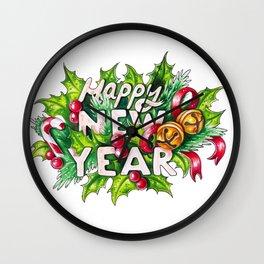 Happy New Year Wall Clock