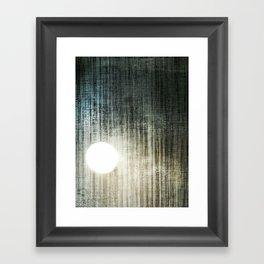 Swamp Gas in the Black Framed Art Print