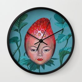 Strawberry head Wall Clock