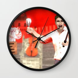 SquaRed: Happy New Year Wall Clock