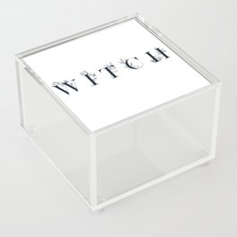 WITCH - floral typography design Acrylic Box