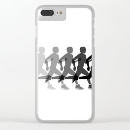 Sports man running Clear iPhone Case