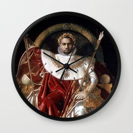 The Emperor Sits on His Throne Wall Clock