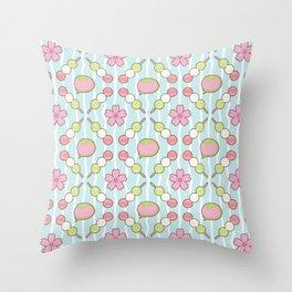 Hanami Nummies | Sky Throw Pillow