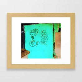 As aventuras da Perna Cabeluda Framed Art Print
