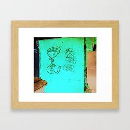 As aventuras da Perna Cabeluda Framed Art Print