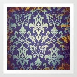 Olden damask pattern Art Print