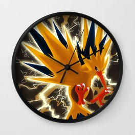Shiny Zapdos Wall Clock