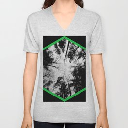 Grey forest Unisex V-Neck