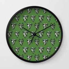 Green Monster Slice Wall Clock