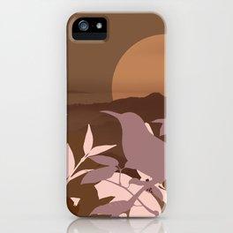 Brown Landscape iPhone Case
