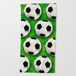 Soccer Ball Football Pattern Beach Towel