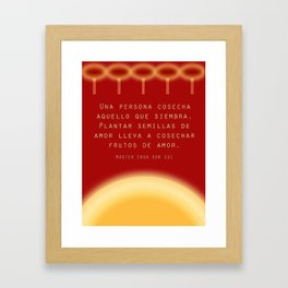 Dar Y Recibir Framed Art Print