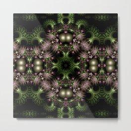 Fractal Wreath Metal Print