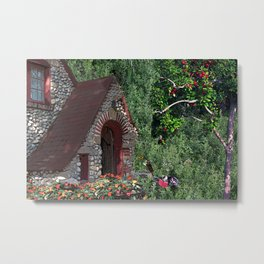 A Cottage Read Metal Print