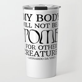 Vegetarian vegan grave Da Vinci Animals Gift Travel Mug