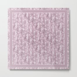 Floral pattern dusty rose . Metal Print