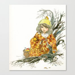 Winter Story Time in the Forest Canvas Print