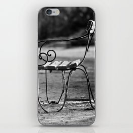 Solitary Park Bench iPhone Skin