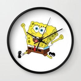 Spongebob Jump Wall Clock