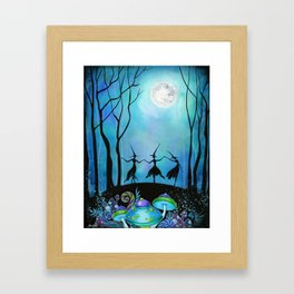 Halloween Dance Framed Art Print