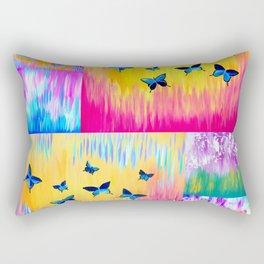 Rainbow Butterflies Rectangular Pillow