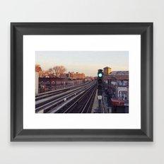 Take The 'A' Train Framed Art Print