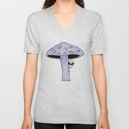 Mushroom Alien Unisex V-Neck
