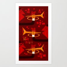 Red Hot Brass Art Print