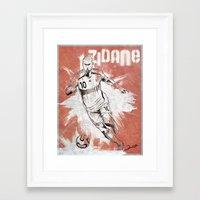 zidane Framed Art Prints featuring Zinedine Zidane by Renato Cunha