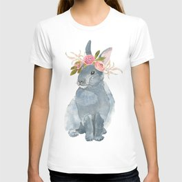 bunny with flower crown T-shirt