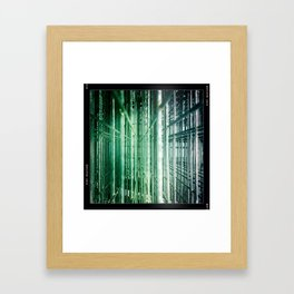 wire forest Framed Art Print