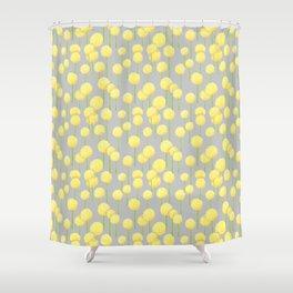 Allium - Yellow Shower Curtain