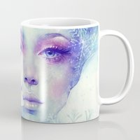 friday Mugs featuring December by Anna Dittmann