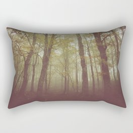 Wood in winter with fog Rectangular Pillow