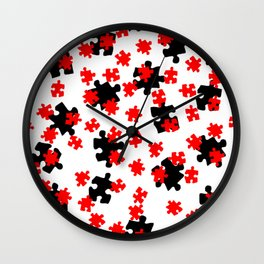 DT PUZZLE SCATTER 6 Wall Clock