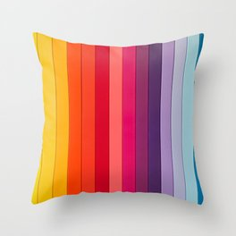 vertical lines colors Throw Pillow