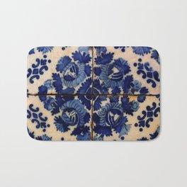 Blue old portuguese tile Bath Mat