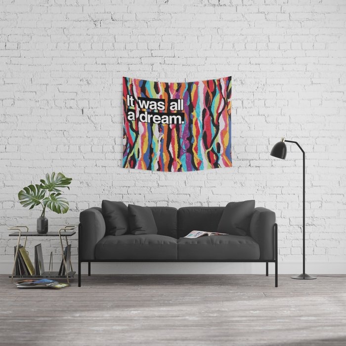 """It Was All A Dream"" Biggie Smalls Inspired Hip Hop Design Wall Tapestry"