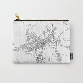 Minimal City Maps - Map Of Pecs, Hungary. Carry-All Pouch
