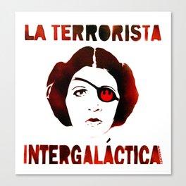 La Terrorista Intergalactica by MrMAHAFFEY Canvas Print