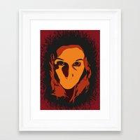 horror Framed Art Prints featuring Horror by Square Lemon