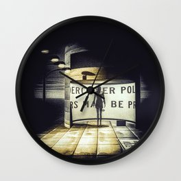 Stranger In Town Wall Clock