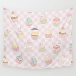 Cupcakes pattern Wall Tapestry