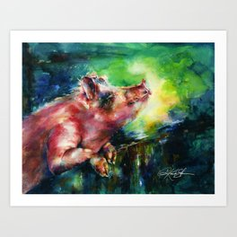 Charlie - by Kathy Morton Stanion Art Print
