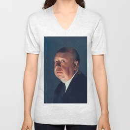 Alfred Hitchcock, Hollywood Legend Unisex V-Neck