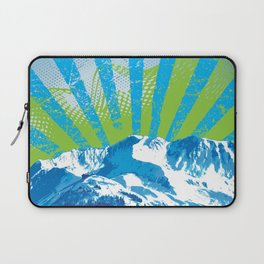 Mt. Alyeska Ski Rise by Crow Creek Coolture Laptop Sleeve
