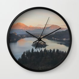 Lake Bled, Slovenia II Wall Clock